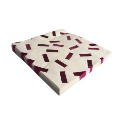 Metallic pink confetti napkins (2 packs x 20)