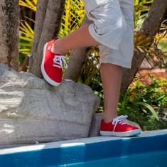 Boys' lace up canvas shoe (various colours)