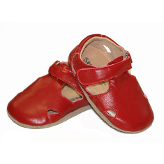 Baby Pre-walker Leather Sunday Sandals in Red