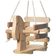 Wood Horse Swing Set for Toddlers