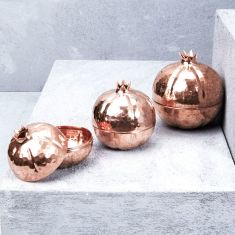 Hand Crafted Copper Pomegranate (3 sizes)