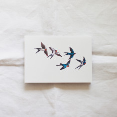 Swallow Birds Watercolour Illustration Greeting Cards (Pack of 4)