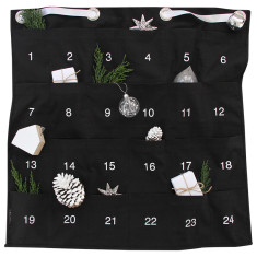 Christmas advent calendar in black