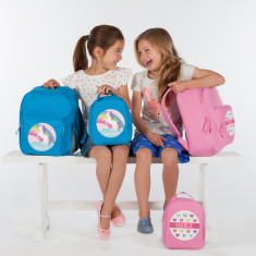 Personalised Girl's School & Lunch Bags in Pink or Blue