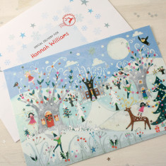 Winter Forest Advent Calendar And Envelope
