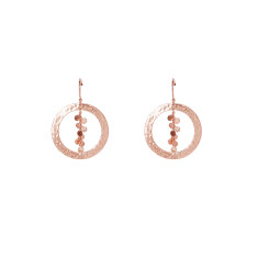 Grace Hoop Earrings in Rose Gold Plate