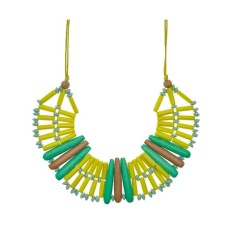 Beads and battons necklace (various colours)