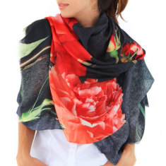Cashmere Carnations Scarf