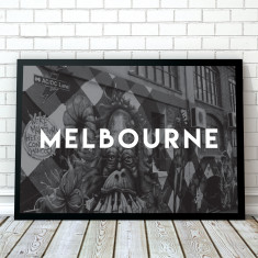 Melbourne Travel Art Print
