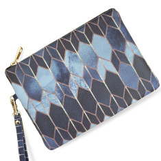 Stained Glass Vegan Leather Pouch Clutch Bag