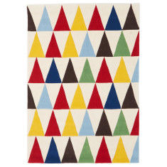 Colourful Triangle Multi Colour Rug