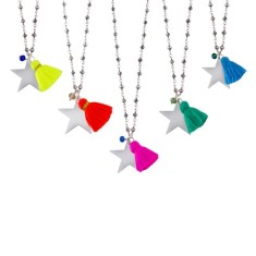 Rosary tassel star pendant (various colours)