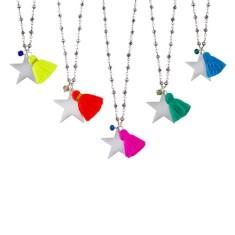 Rosary tassel star pendant (various colours)