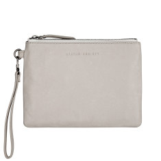 Fixation leather wallet in cement