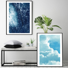 Heaven and earth art prints (set of 2)
