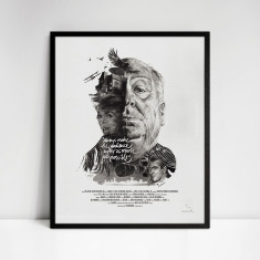 Alfred Hitchcock Movie Director Portrait Print