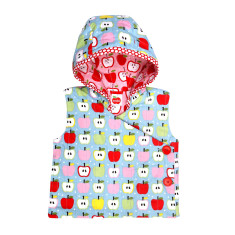 Pikelet Apples Reversible Hooded Vest