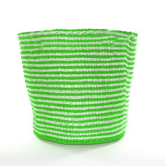 Nala woven basket in lime