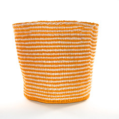 Nala woven basket in orange