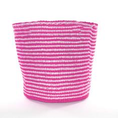 Nala woven basket in pink