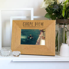 Carpe Diem Inspirational Quote Photo Frame