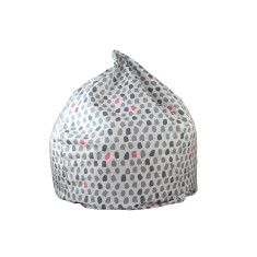 Paint Splotches - Grey and Pink Bean Bag Cover