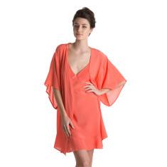 Silk Robe - Coral