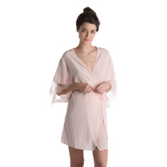 Silk Robe - Blush Pink