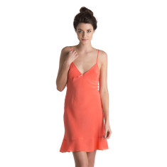 Silk Nightie - Coral