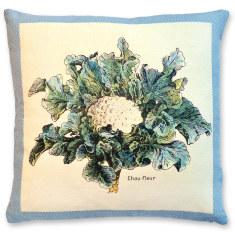 Millot Cauliflower linen cushion cover
