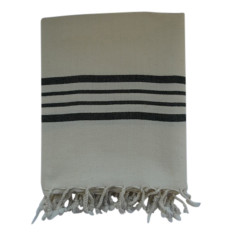 Turkish towel in natural with black