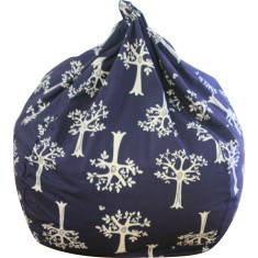 Navy orchard beanbag cover
