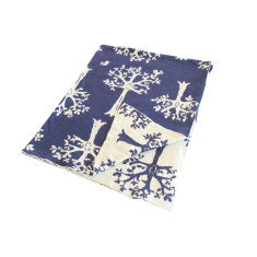 Orchard Blanket in Navy and Beige