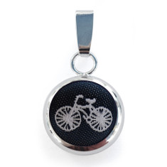 Navy Bicycle Necklace