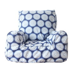 Navy freckles bean bag chair cover