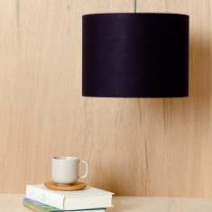 Navy pendant light shade