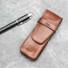 Personalised Luxury Leather Pen Holder