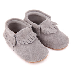 Pre-Walker Moccasins in Grey