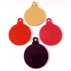 Multicoloured perspex Christmas decorations (set of 12)