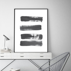 Abstract stripes art print