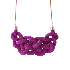 Celtic knot necklace in royal orchid