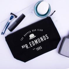 Personalised Dapper Dad Club Wash Bag