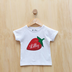 Personalised strawberry t-shirt