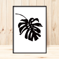 Silhouette monstera art print (various sizes)
