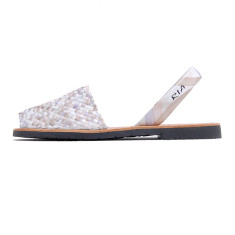 Porter leather sandals in pearl