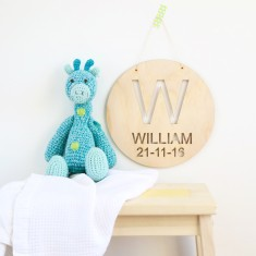 Personalised custom name wood plaque/hanging art