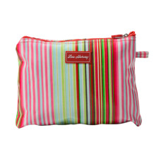 Large cosmetic, clutch or nappy bag in Selma Stripe print