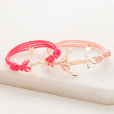 Mummy & Me Personalised Anchor Bracelet Duo