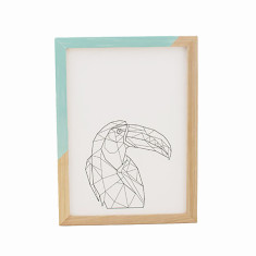 Geometric toucan framed print
