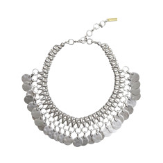 Modern chunky tribal boho collar necklace